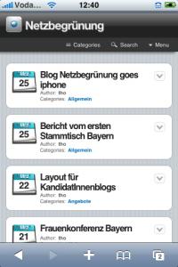 Screenhot WPIphone
